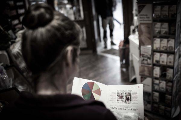 Blick in die Baby und Familie Zeitung
